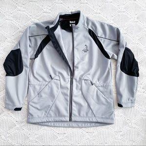 Adidas ClimaProof Men's Full Zip Light Gray Jacket Pinehurst Logo Size Large